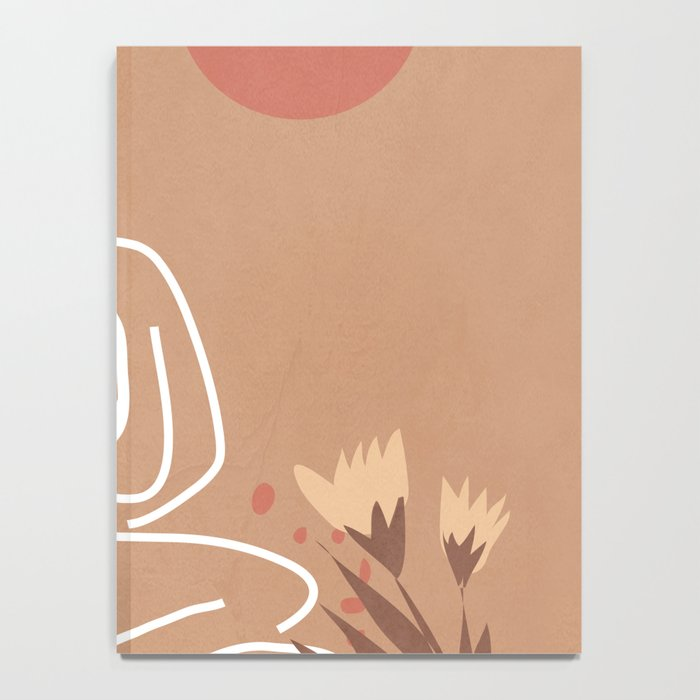 Woman in Nature Illustration Notebook