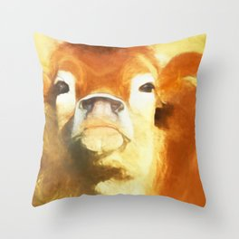 A Moo Attitude Throw Pillow