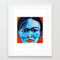 frida khalo Framed Art Prints featuring Ometeotl en el Cielo Frida Khalo by Anel I. Flores