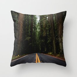 The Road to Wisdom - Nature Photography Throw Pillow