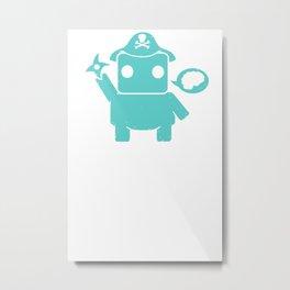 Ninja Pirate Robot Zombie Metal Print