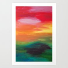 Whats behind the next hill? Art Print