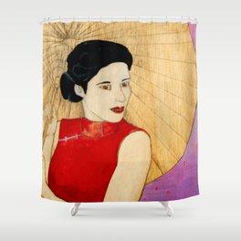 Umbrella Girl Shower Curtain