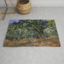 Claude Monet - The Bodmer Oak, Fontainebleau Forest Rug