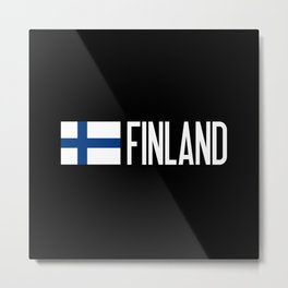 Finland: Finnish Flag & Finland Metal Print