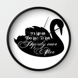 Happily Ever After Black Swan A368 Wall Clock