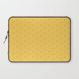 Succ It - Cute But Rude Cactus Tiled on Dark Blue Laptop Sleeve