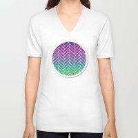 herringbone V-neck T-shirts featuring CH Herringbone  by Crosby House