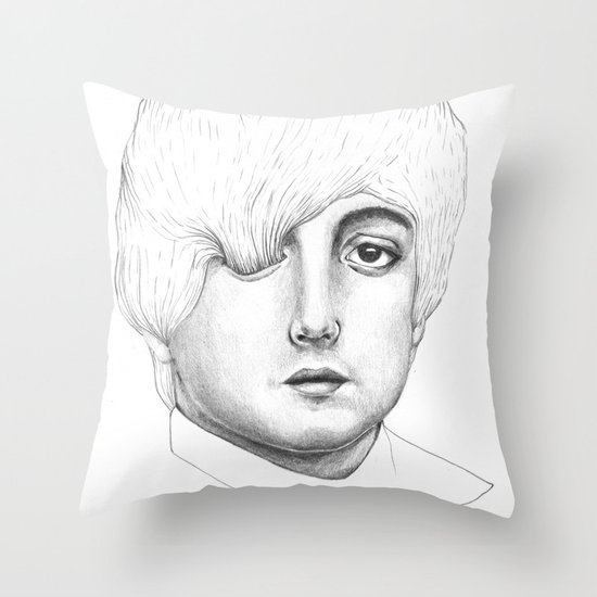 Paul, Your hair is long but not long enough like your eyelashes Throw Pillow