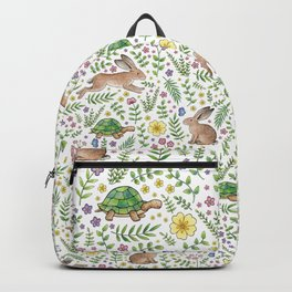 Spring Time Tortoises and Hares Backpack