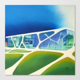 Glass Cube. Canvas Print
