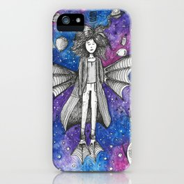 Woman from the galaxy iPhone Case