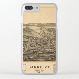 Aerial View of Barre, Vermont (The Granite City) 1891 Clear iPhone Case
