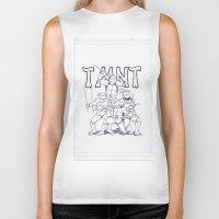 tmnt Biker Tanks featuring TMNT by Jordan Beecham