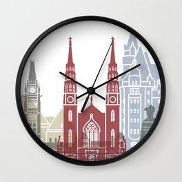 Ottawa skyline poster Wall Clock
