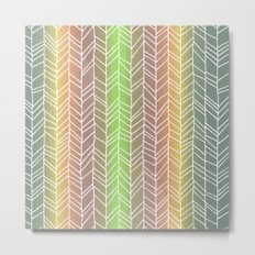 Colorful Rainbow Feather Pattern Metal Print