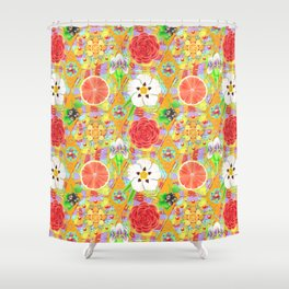 4160 Tuesdays Rainbow Botanicals Shower Curtain