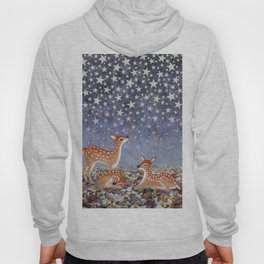 whitetail fawns under the stars Hoody