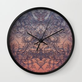 Fire from frost Wall Clock