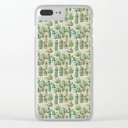 Salty Cacti Clear iPhone Case