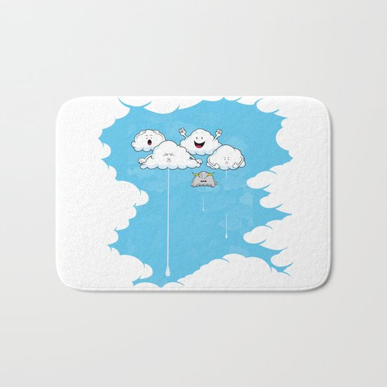 Young Clouds fooling around Bath Mat