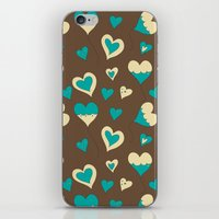 baloon iPhone & iPod Skins featuring Baloon Heart by GrapeDiva