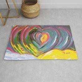 Heart by Sheila Fein Fantasy Pop Rug