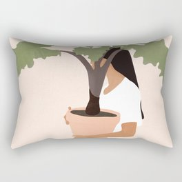 Vase Plant 2 Rectangular Pillow