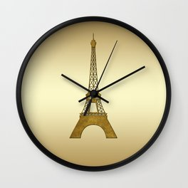 Sweet Memories Eiffel Tower Wall Clock