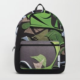 Amphibious- Abstract Texture Collage Backpack
