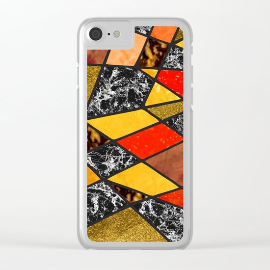 Abstract #487 Clear iPhone Case