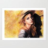 emma watson Art Prints featuring EMMA WATSON by Laura Catrinella