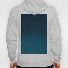 Navy blue teal hand painted watercolor paint ombre Hoody