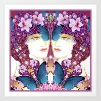 nouveau Art Prints featuring Nouveau by Kundalini Arts
