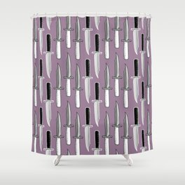 Double Knives in Mauve Shower Curtain