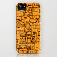 Houses - orange iPhone (5, 5s) Slim Case