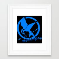mockingjay Framed Art Prints featuring MockingJay by Marc Koster