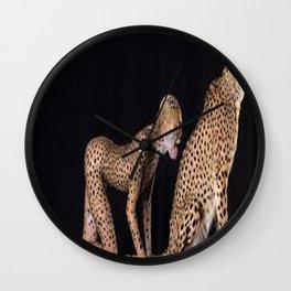 Girl_cheetah Wall Clock