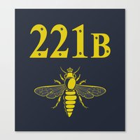 221b Canvas Prints featuring 221B(ee) by sirwatson