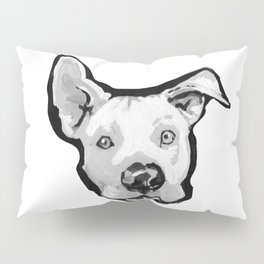 RESCUE ME Pit Bull Pitbull Dog Pop Art black and White Painting by LEA Pillow Sham