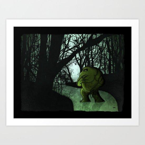 Swamp Creature Art Print
