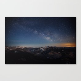 Clouds Rest Night Canvas Print