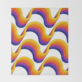 Rainbow Ribbons Throw Blanket