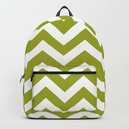 Citron - green color - Zigzag Chevron Pattern Backpack