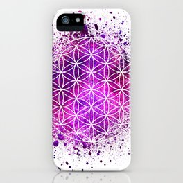 Flower Of Life Sacred Geometry iPhone Case