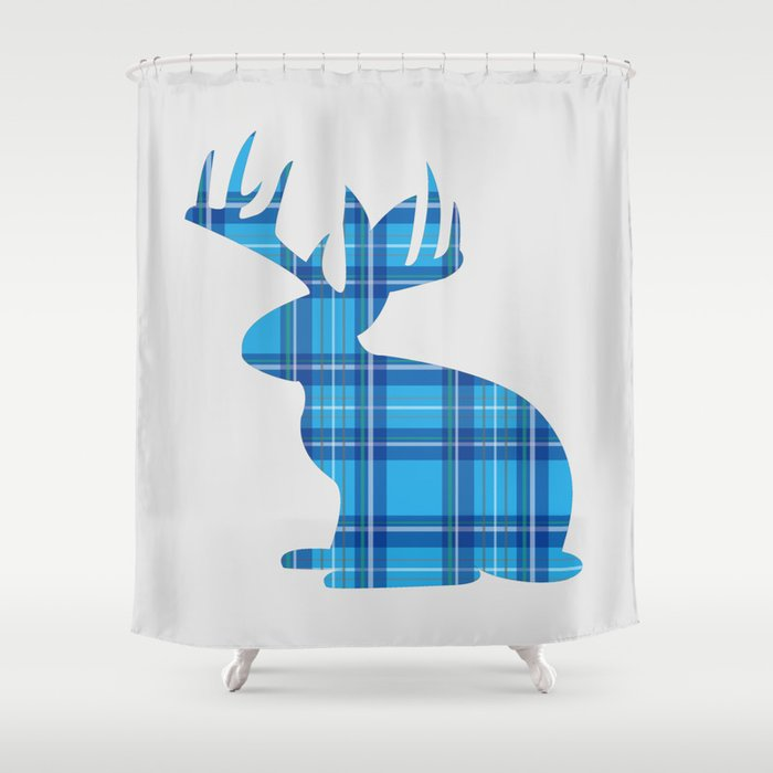 Lumberjackalope (Light Blue) Shower Curtain by designwithpride ...