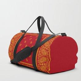 Red and Gold Bandana Duffle Bag