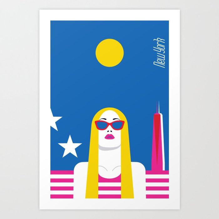 Stylish Journey - New York Art Print