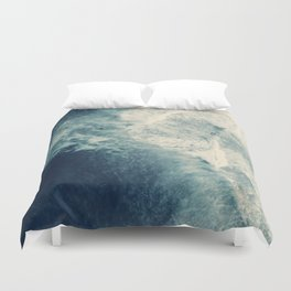 Ice Blue Surf Duvet Cover