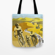 Strade Bianche retro cycling classic art Tote Bag